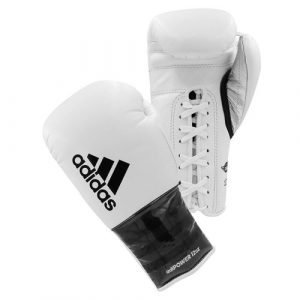 ADIDAS ADIPOWER LACE BOXING GLOVES WHITE