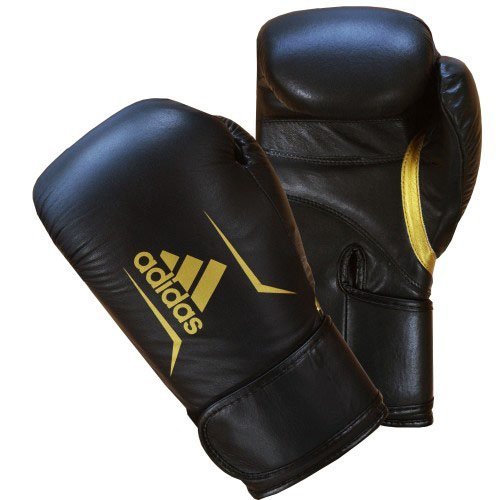 ADIDAS SPEED 175 BOXING GLOVES BLACK GOLD