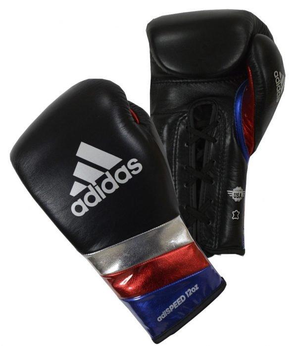 Adidas Adispeed 500 Lace Boxing Gloves Black