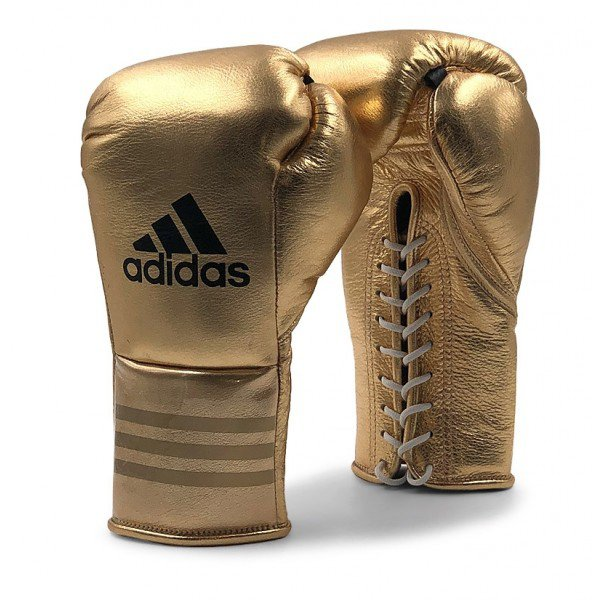 Adidas Mexican Pro Fight Gold Boxing Gloves Horsehair 2