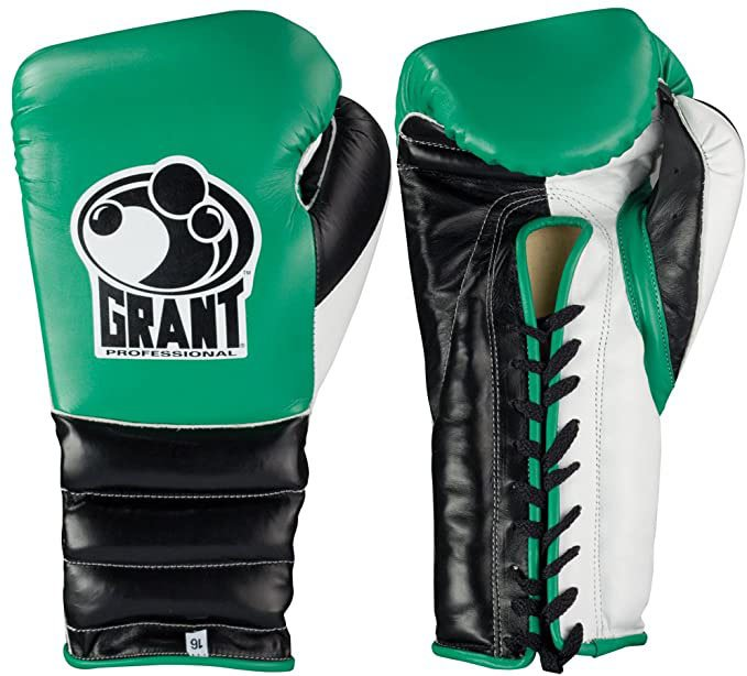 GRANT BOXING AUTHENTIC 10 OZ PRO FIGHT (PUNCHER_S) GLOVES - GREE