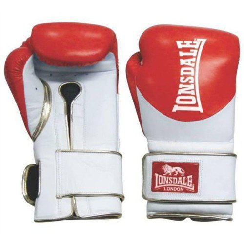 LONSDALE L60 LEATHER HOOK & LOOP TRAINING GLOVES