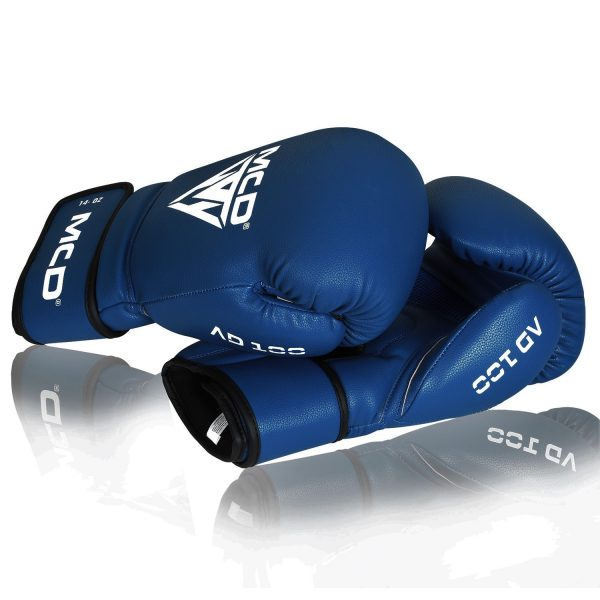MCD AD100 Extra Wrist Support Boxing Gloves Blue