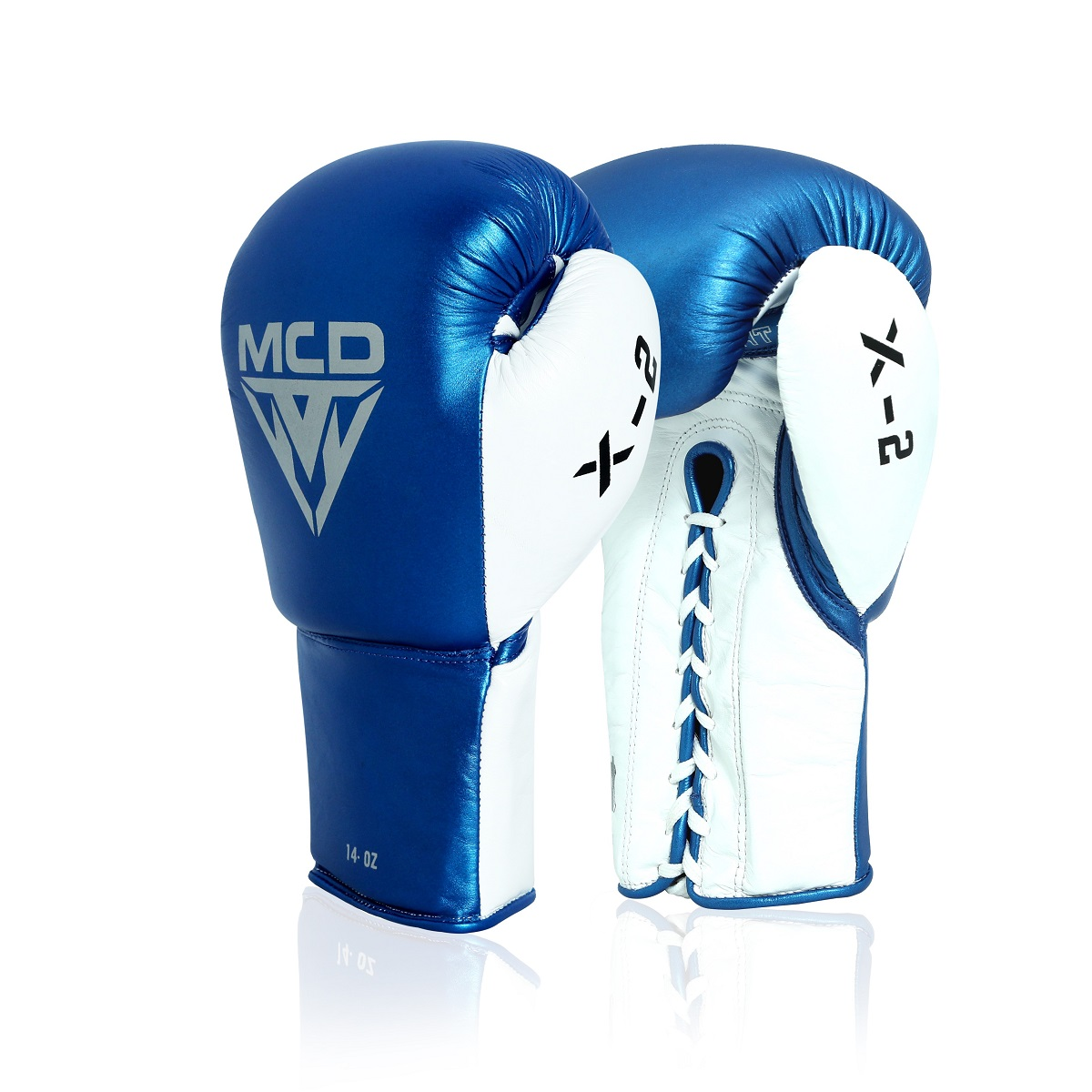 MCD Boxing Gloves X2 Laced Leather Professional Sparring Kickbox