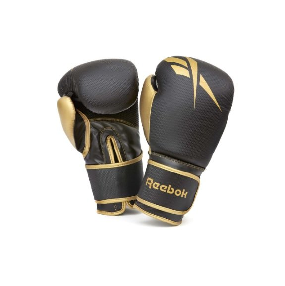 REEBOK BOXING GLOVES BLACK GOLD