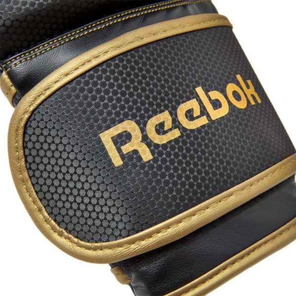 Reebok boxing gloves black gold 14 oz