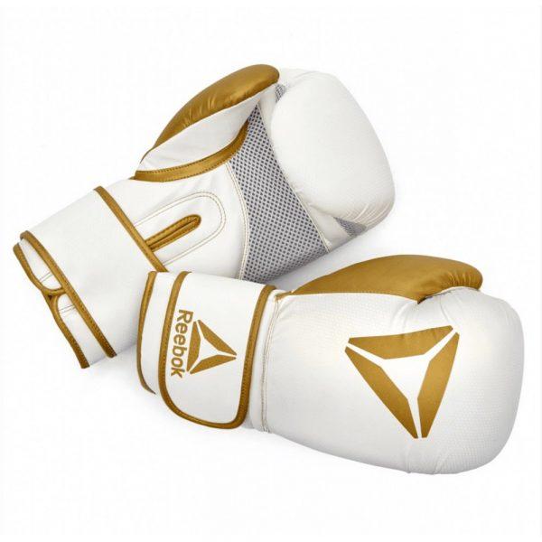 reebok boxing gloves gold white