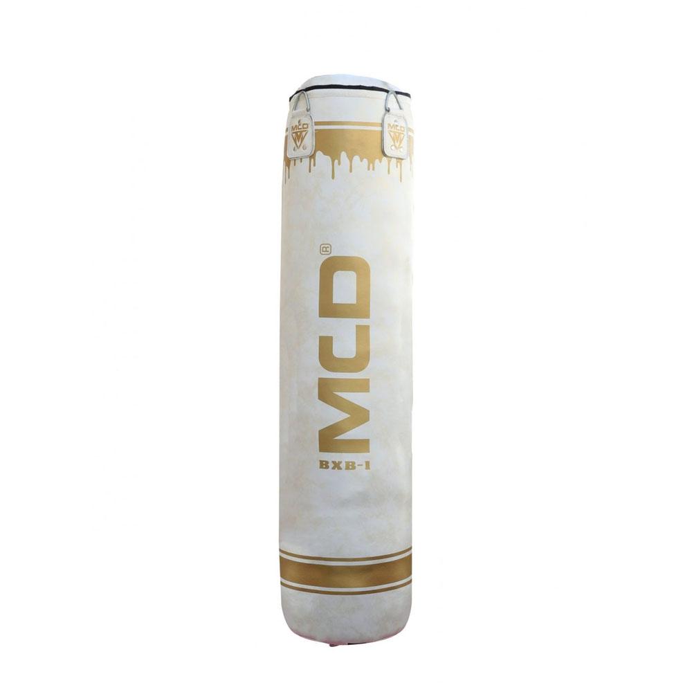 MCD Boxing bag White and Gold 25kg to 30kg – 5ft Punch bag
