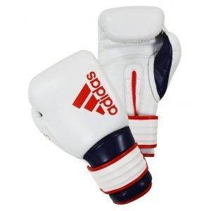 Adidas Hybrid 300X Boxing Gloves White Blue Red