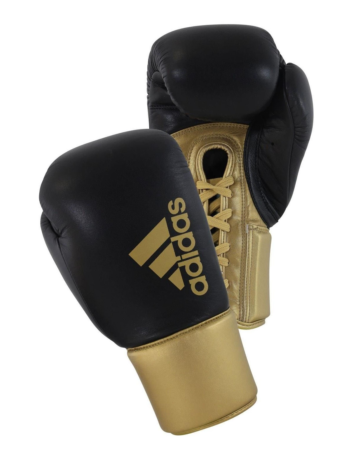 Adidas Hybrid 400 Boxing Gloves Black Gold