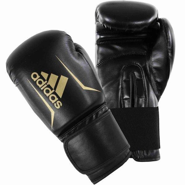 Adidas Kids Speed 50 Boxing Gloves Black Gold