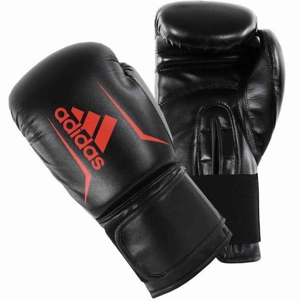 Adidas Kids Speed 50 Boxing Gloves Black Red