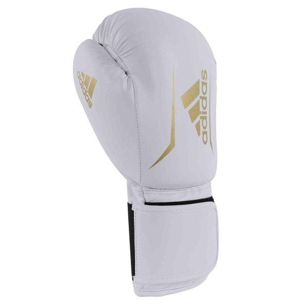 Adidas Kids Speed 50 Boxing Gloves White Gold