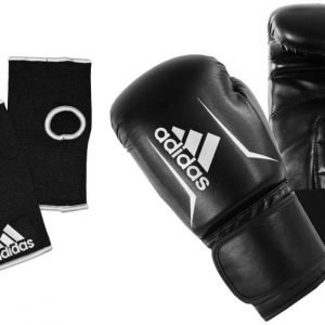 Adidas Speed 50 Boxing Gloves - Black White
