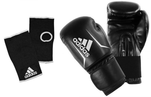 Adidas Speed 50 Boxing Gloves - Black White
