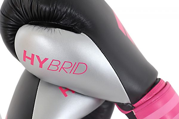 Adidas Womens Hybrid 100 Boxing Gloves Silver