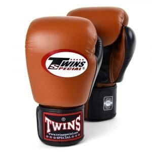 Twins 2 Tone Boxing Gloves - Brown/Black