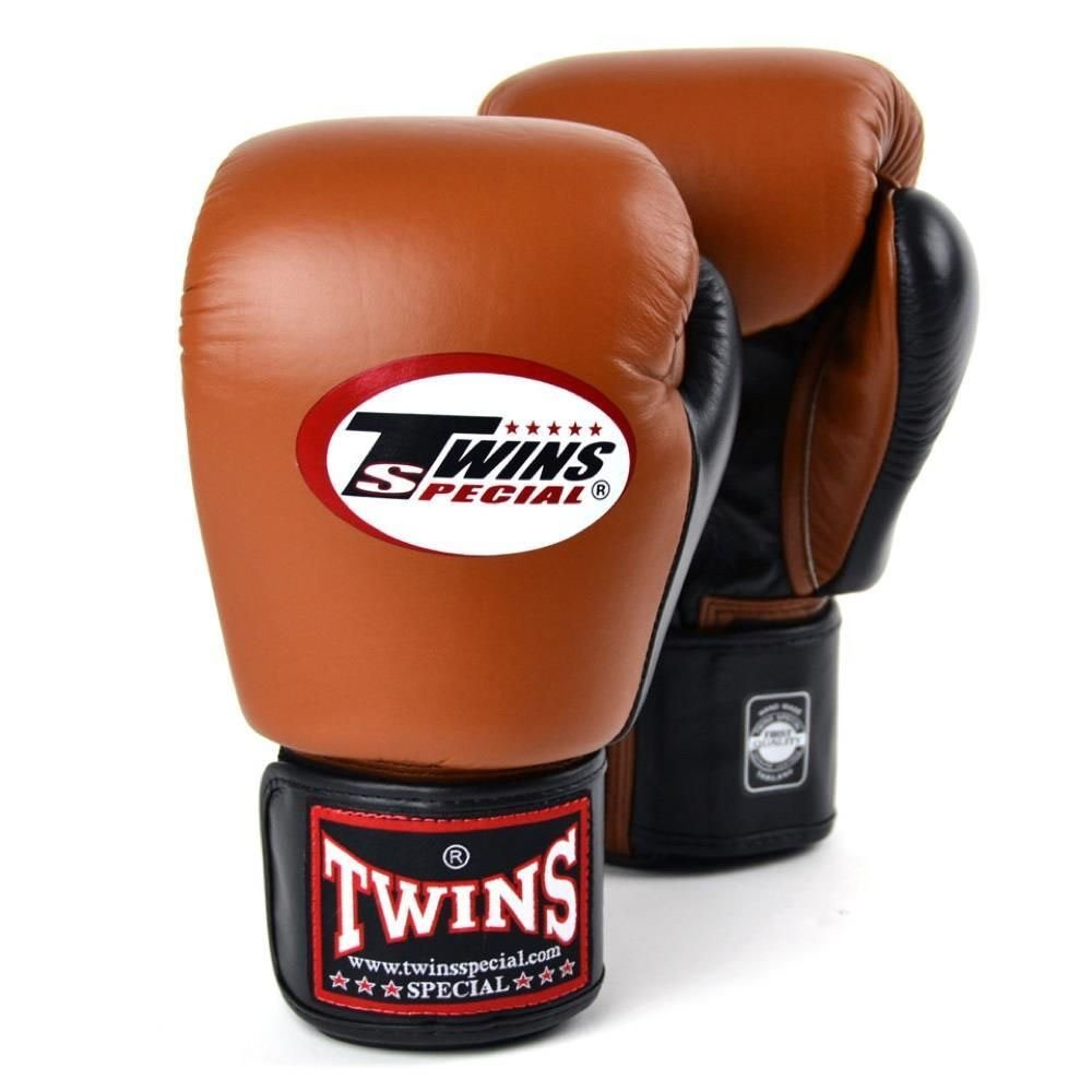 Image of Twins 2 Tone Boxing Gloves BGVL-3T brown 12oz