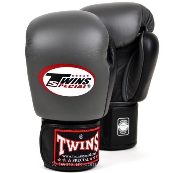 Twins 2 Tone Boxing Gloves - Grey/Black