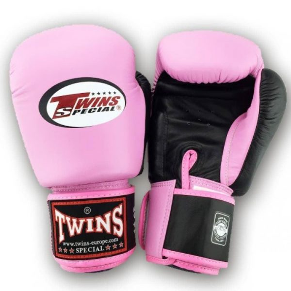 Twins 2 Tone Boxing Gloves - Pink/Black