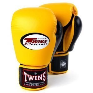 Twins 2 Tone Boxing Gloves - Yellow/Black