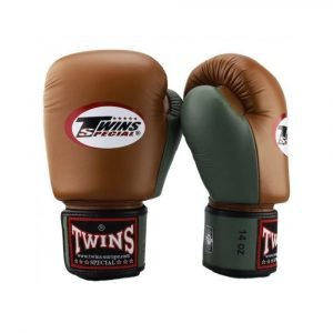 Twins 2 Tone Brown Green Boxing Gloves