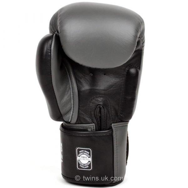 Twins 2 Tone Grey Black Boxing Gloves