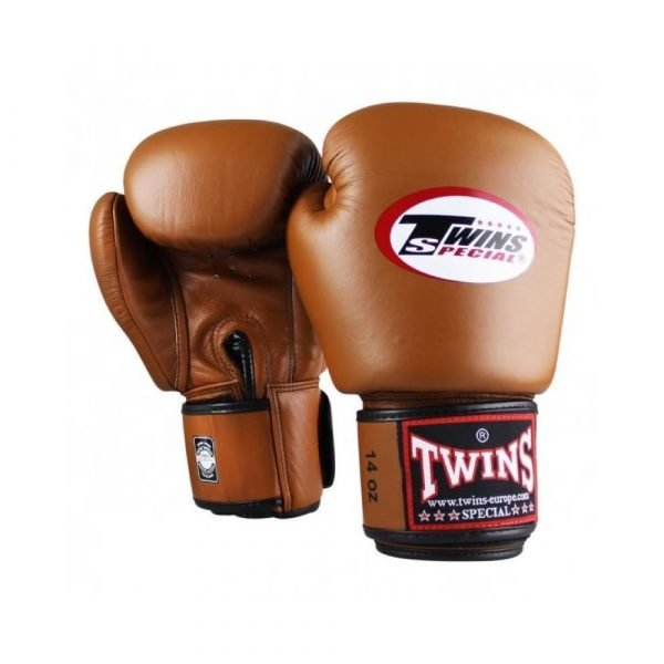 Twins Boxing Gloves - Brown
