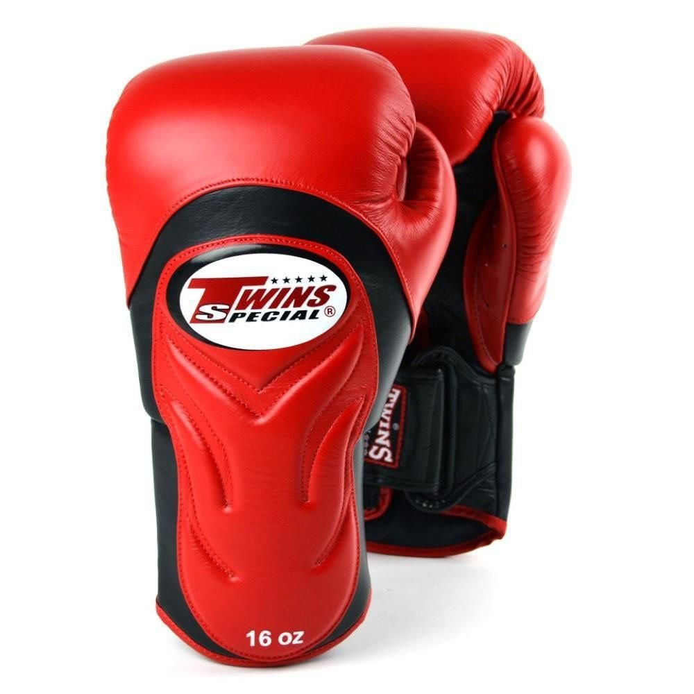 Twins Deluxe Sparring Gloves red 12oz