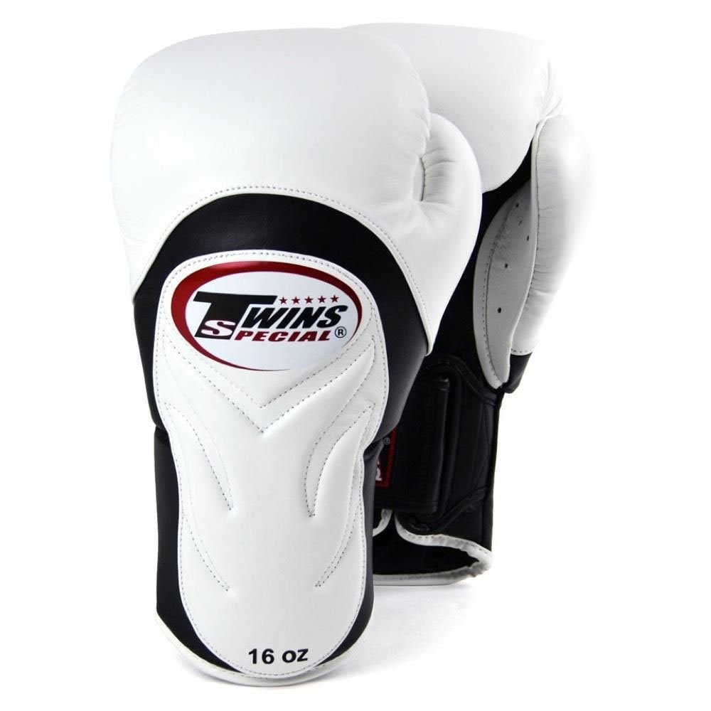 Twins Deluxe Sparring Gloves white 12oz