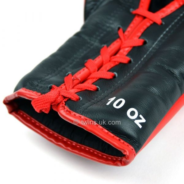 Twins Lace Up Competition Red Boxing Gloves UK