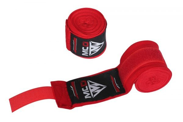 boxing hand wraps red straps