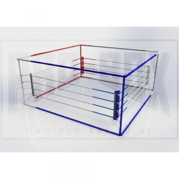 Pro Box Club Quick Assembly Boxing Ring Blue