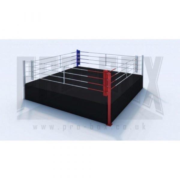 Pro Box High Platform Boxing Ring Black