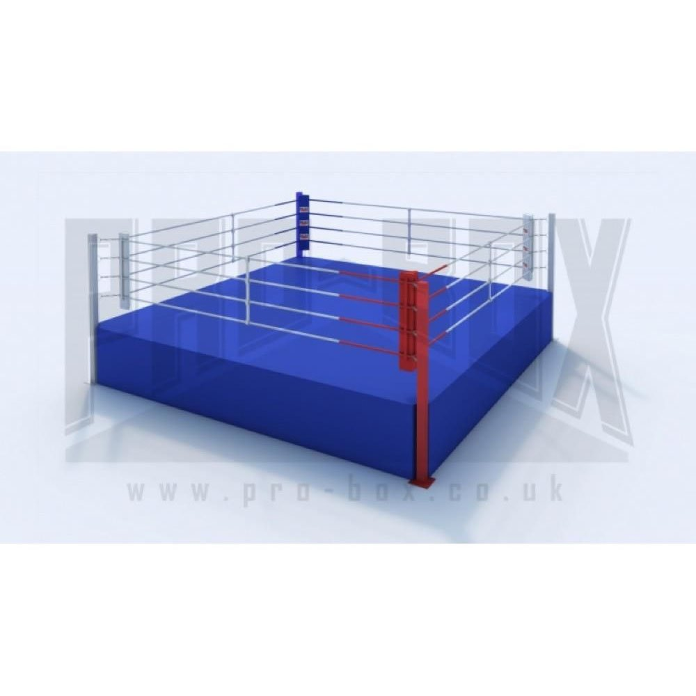 Pro Box High Platform Boxing Ring Blue