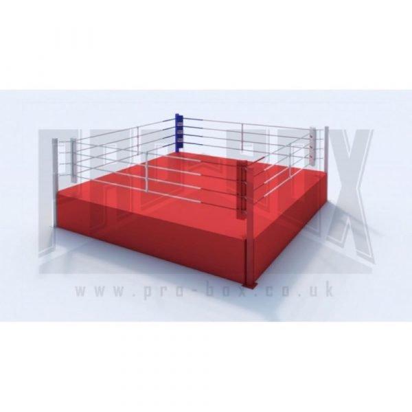 Pro Box High Platform Boxing Ring Red