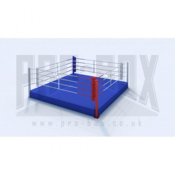 Pro Box Low Platform Boxing Ring Blue