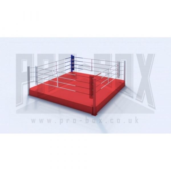 Pro Box Low Platform Boxing Ring Red