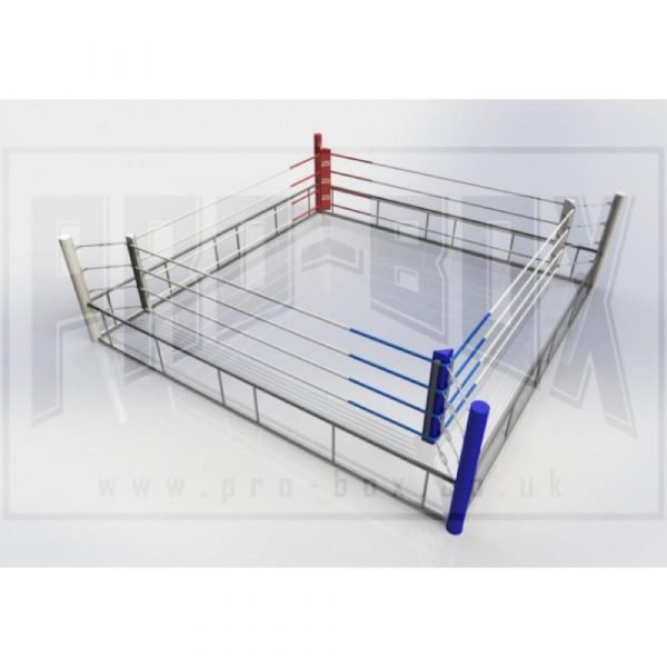 Pro Box Professional Quick Assembly Boxing Ring Blue