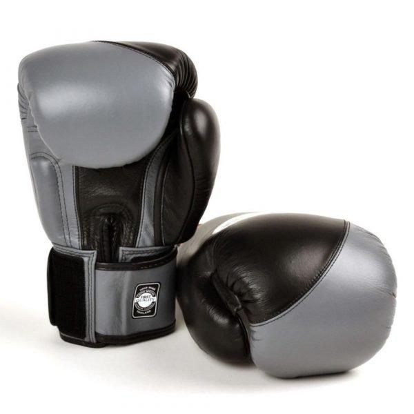 Twins 2 Tone Black/Grey Boxing Gloves