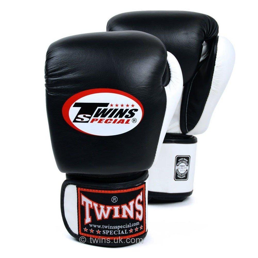 Image of Twins 2 Tone Boxing Gloves BGVL-3T black-white 10oz