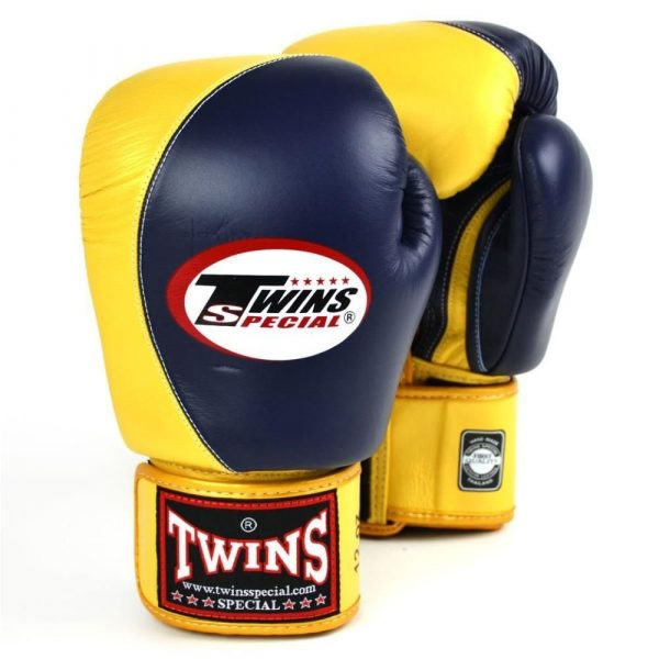 Twins 2 Tone Boxing Gloves - Navy/Gold