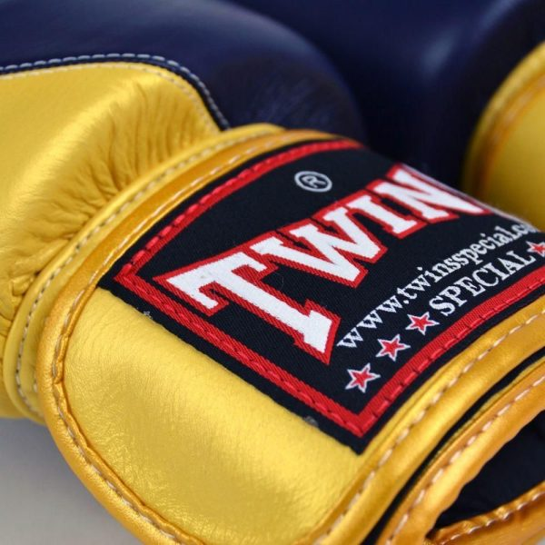 Twins 2 Tone Navy Gold Boxing Gloves