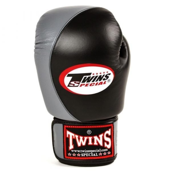 Twins Special 2 Tone Black/Grey Boxing Gloves