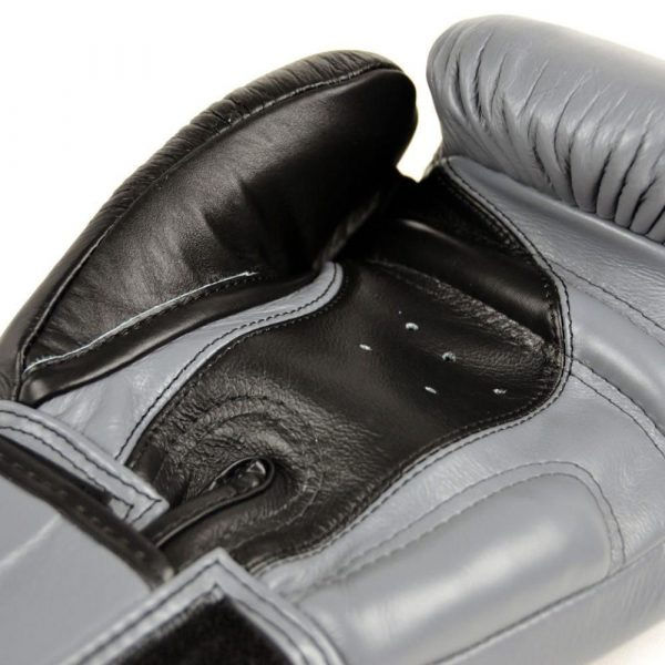 Twins Special 2 Tone Black/Grey Boxing Gloves Quality