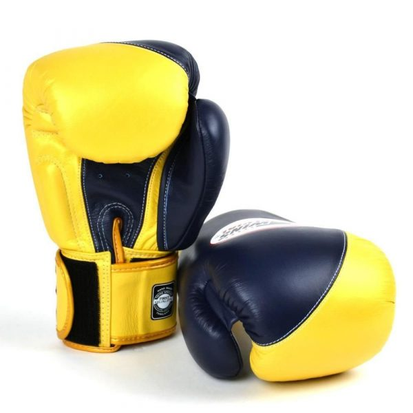 Twins Special 2 Tone Boxing Gloves - Navy/Gold