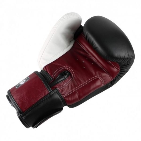 Twins Special 3 Black Burgundy White Tone Boxing Gloves