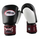 Twins Special 3 Tone Boxing Gloves - Black/Burgundy/White