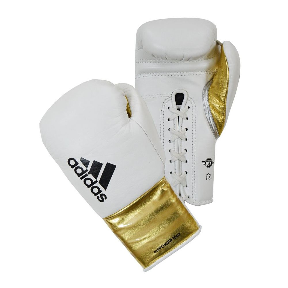 Adidas AdiPower Boxing Gloves - Lace White