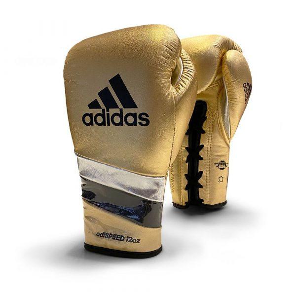 Adidas AdiSpeed Metallic Boxing Gloves - Lace - Gold